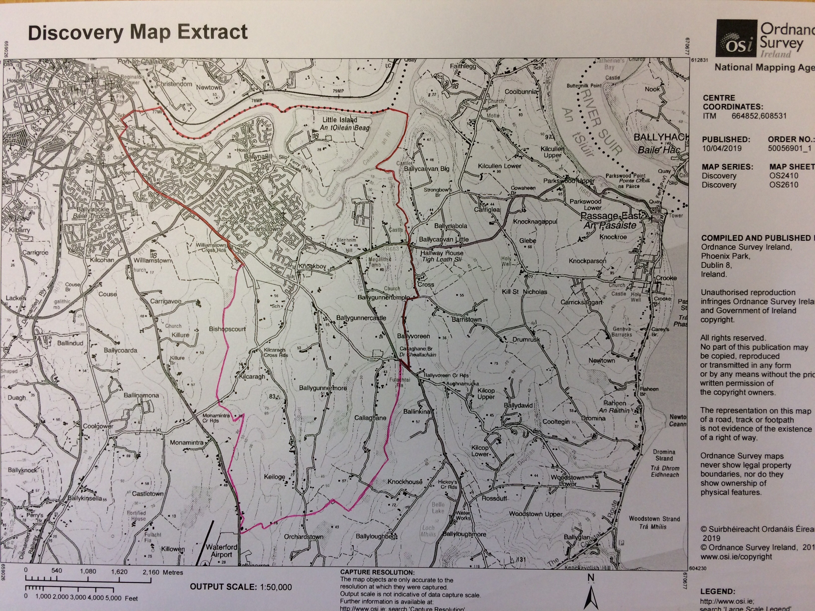Map Of Catchment Area St Marys National School